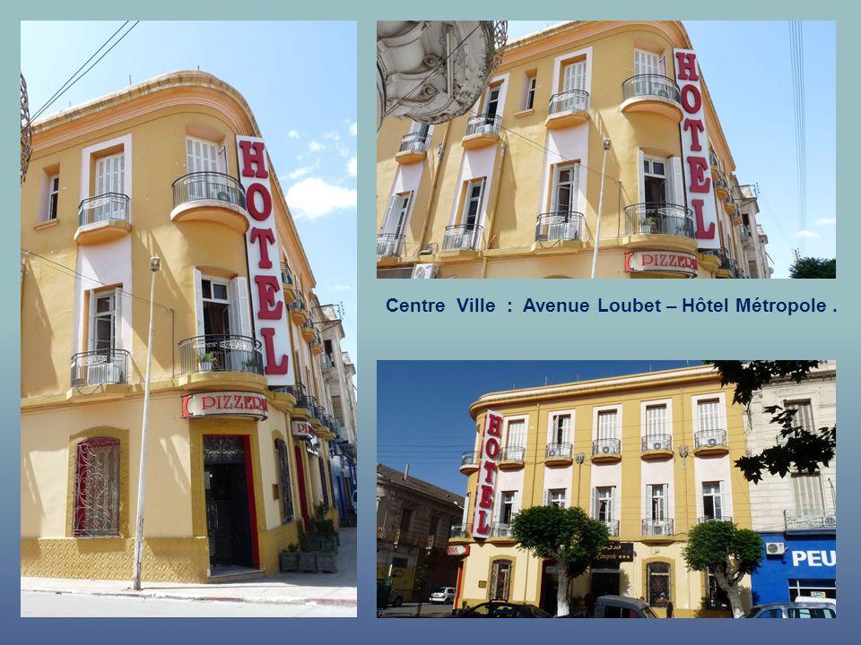 Centre Ville : Avenue Loubet – Hôtel Métropole.
