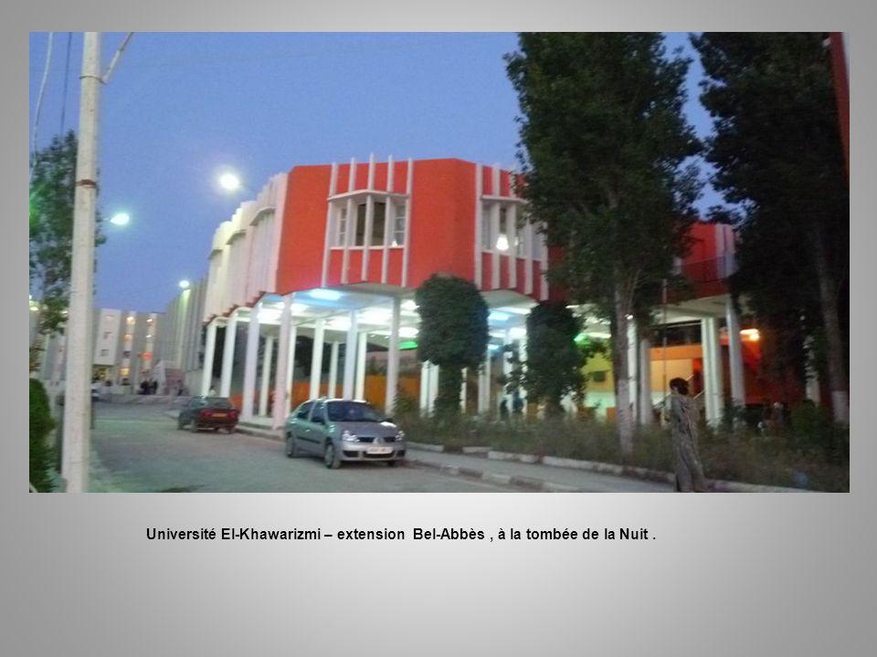 Université El-Khawarizmi – extension Bel-Abbès, François dans le bureau du Directeur.