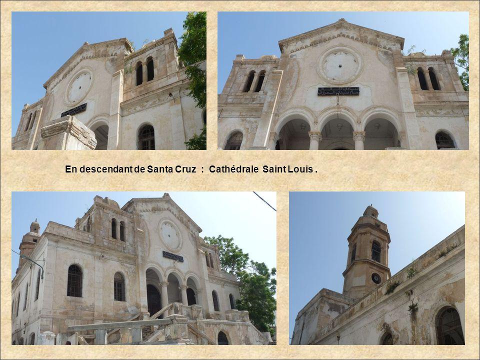 En descendant de Santa Cruz : Cathédrale Saint Louis.