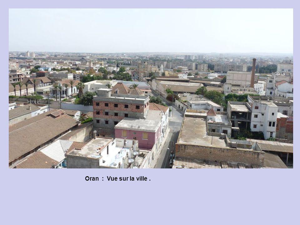 Oran : Vue sur la ville depuis la terrasse de lHôtel Colombe.
