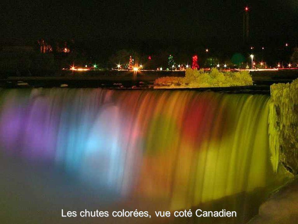 Chutes multicolores, vue coté USA.