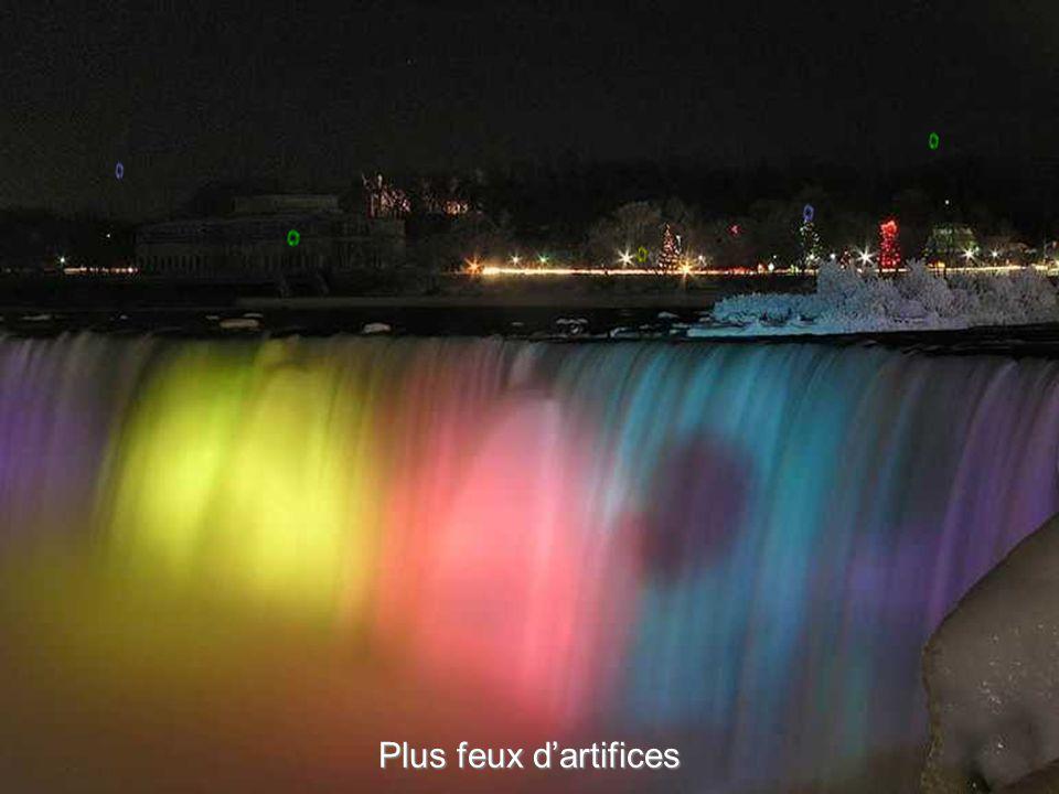 Les chutes colorées, vue coté Canadien