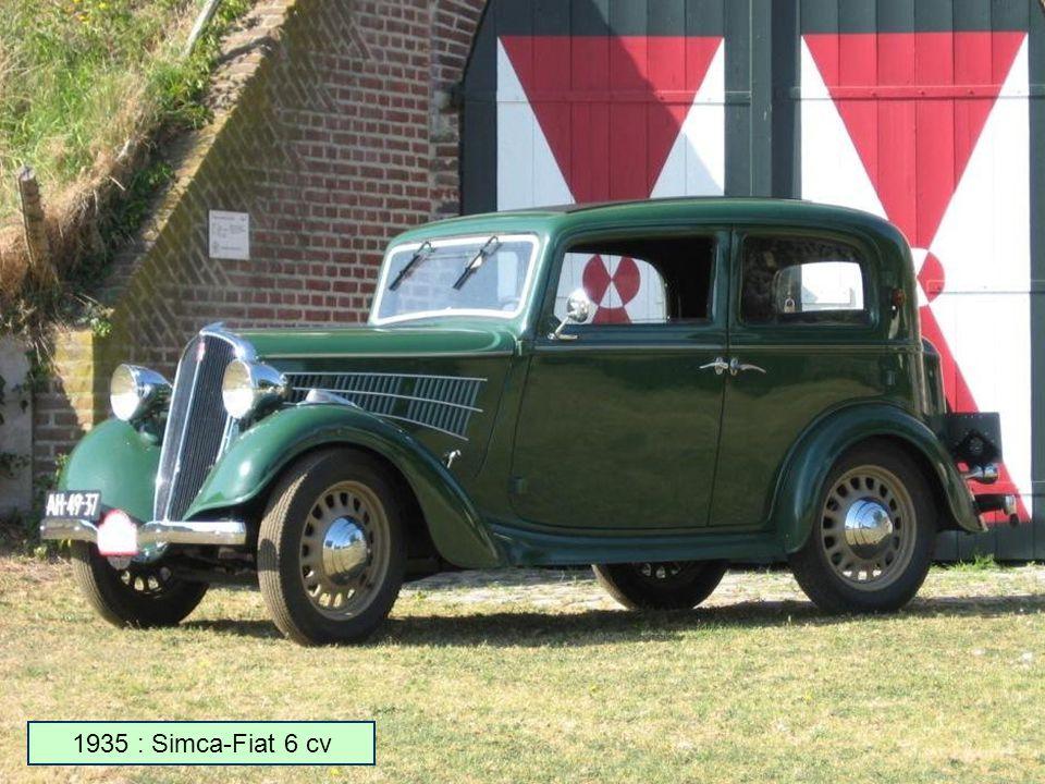 1935 : Simca-Fiat 6 cv
