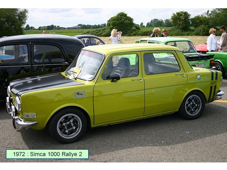 1971 : Simca 1000 Rallye 1