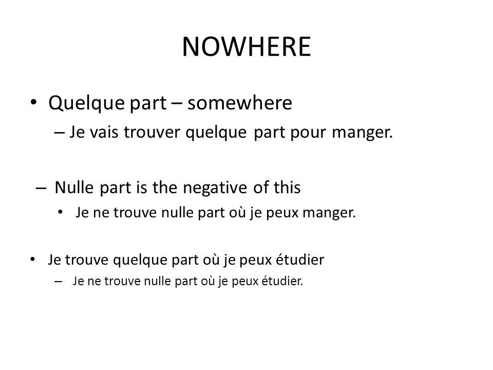 Neither Nor J e veux de lq glace et de leau.– What if you have two things you dont want.