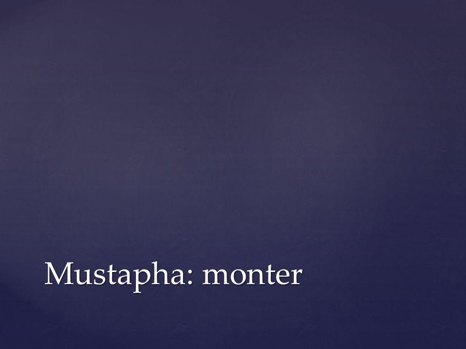 Mustapha: monter