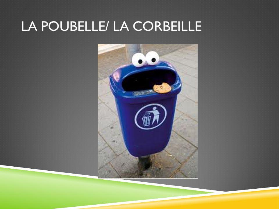 LA POUBELLE/ LA CORBEILLE