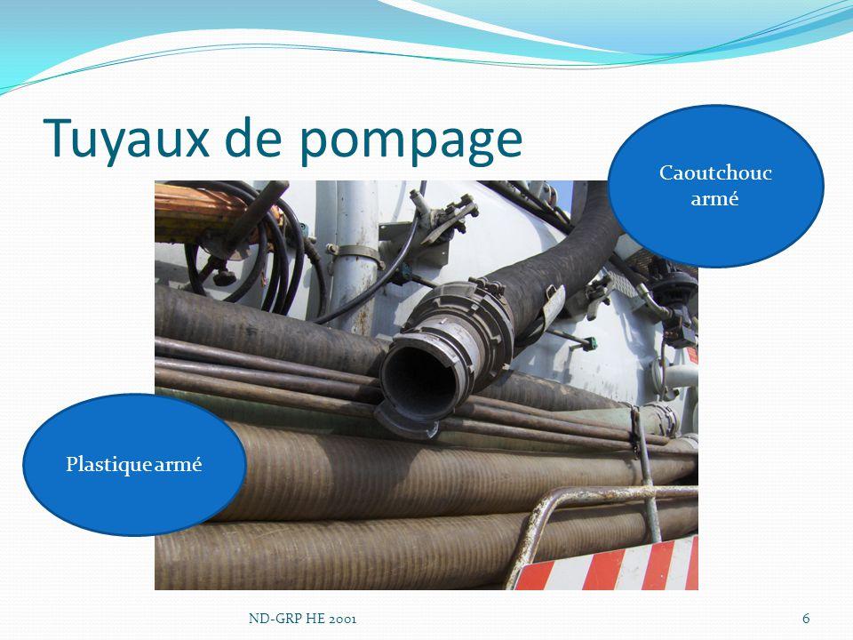 Tuyau de pompage – guidage 7ND-GRP HE 2001