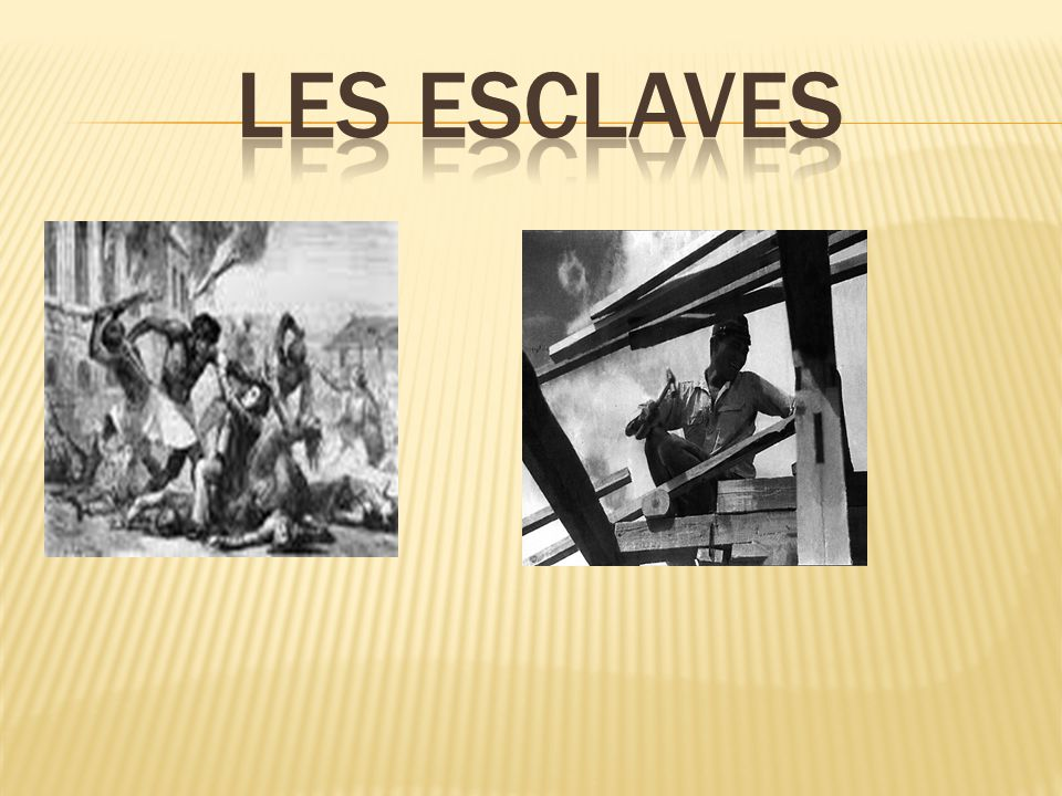 Les esclaves etait vendues et acheter a tous les jours.