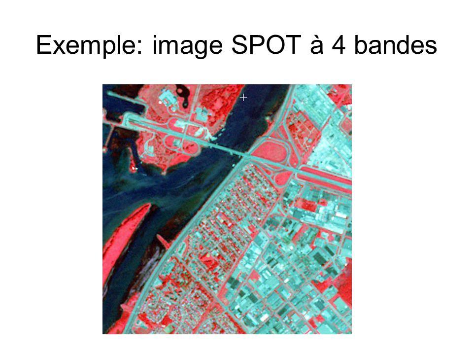 Choix de pixels échantillons Classes: Eau; Gazon; Boisés; Sol à nu; Bâti; Surfaces pavées.