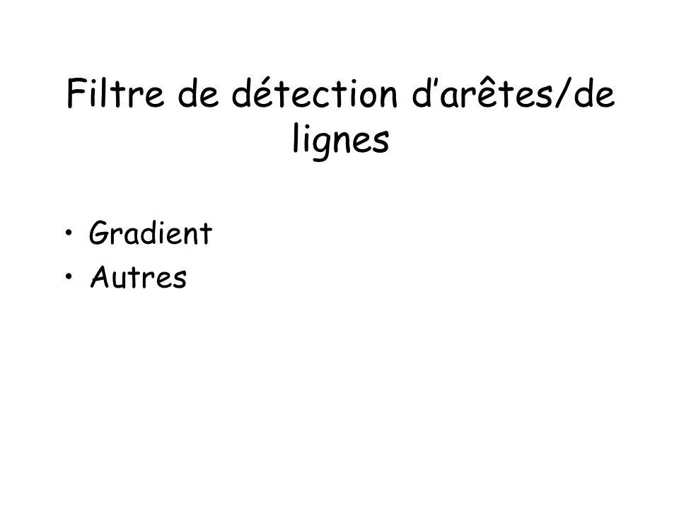 Filtre de détection darêtes/de lignes Gradient Autres