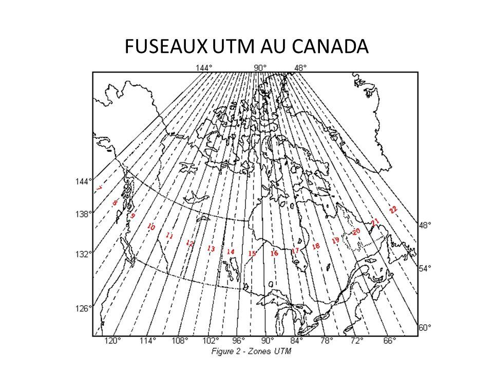 FUSEAUX UTM AU CANADA