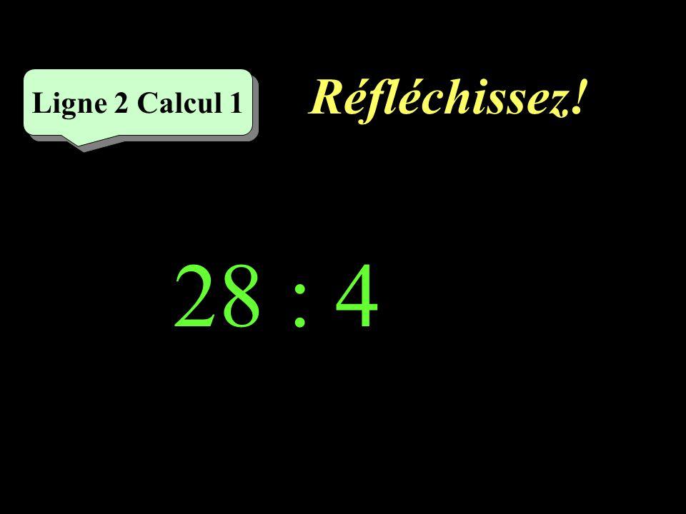 Écrivez ! 36 : 6 = Ligne 1 Calcul 5
