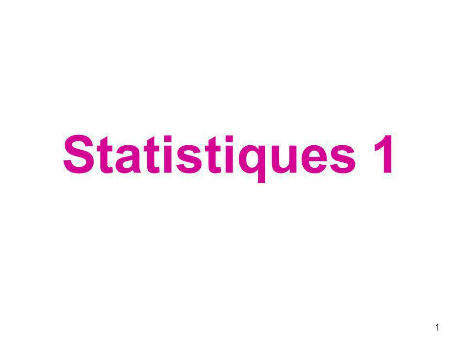 1 Statistiques 1