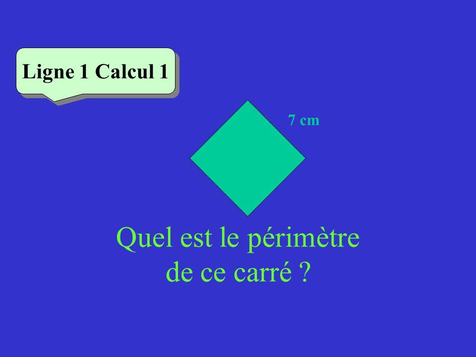 Vérifiez Ligne 2 Calcul 4 Quel est le périmètre dun triangle équilatéral de côté 5,2 cm .