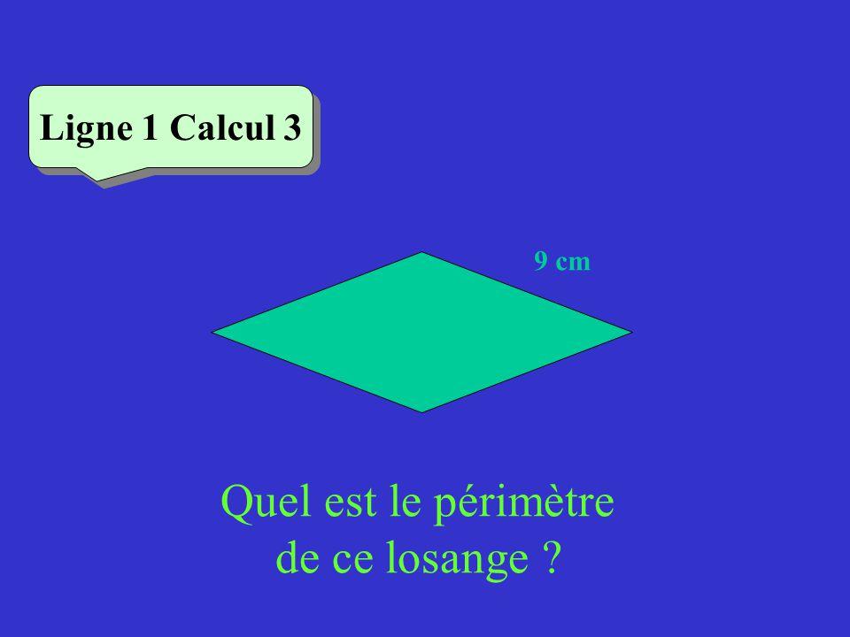 Vérifiez Ligne 1 Calcul 1 Quel est le périmètre de ce carré .