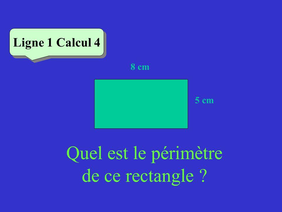 Vérifiez Ligne 1 Calcul 2 Quel est le périmètre de ce triangle équilatéral .
