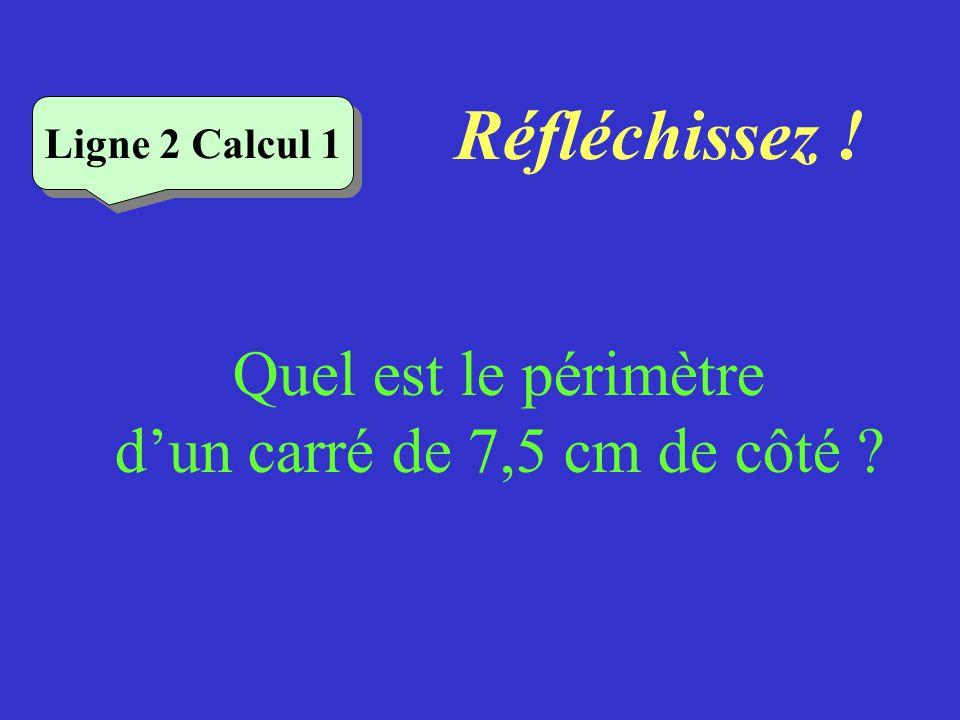 Vérifiez Ligne 1 Calcul 4 Quel est le périmètre de ce rectangle .