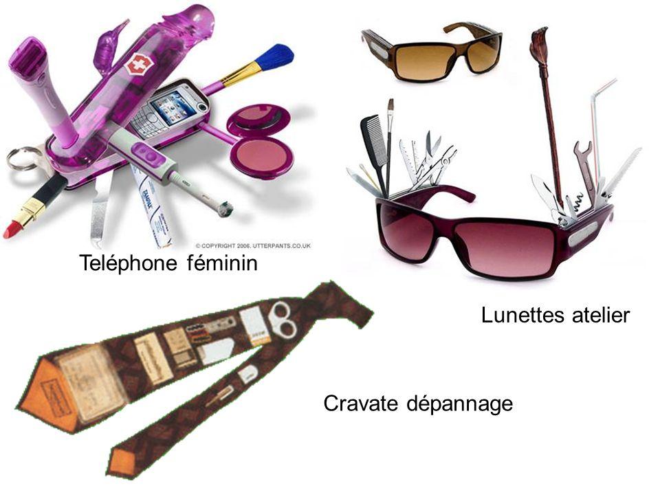 Cravate dépannage Lunettes atelier Teléphone féminin