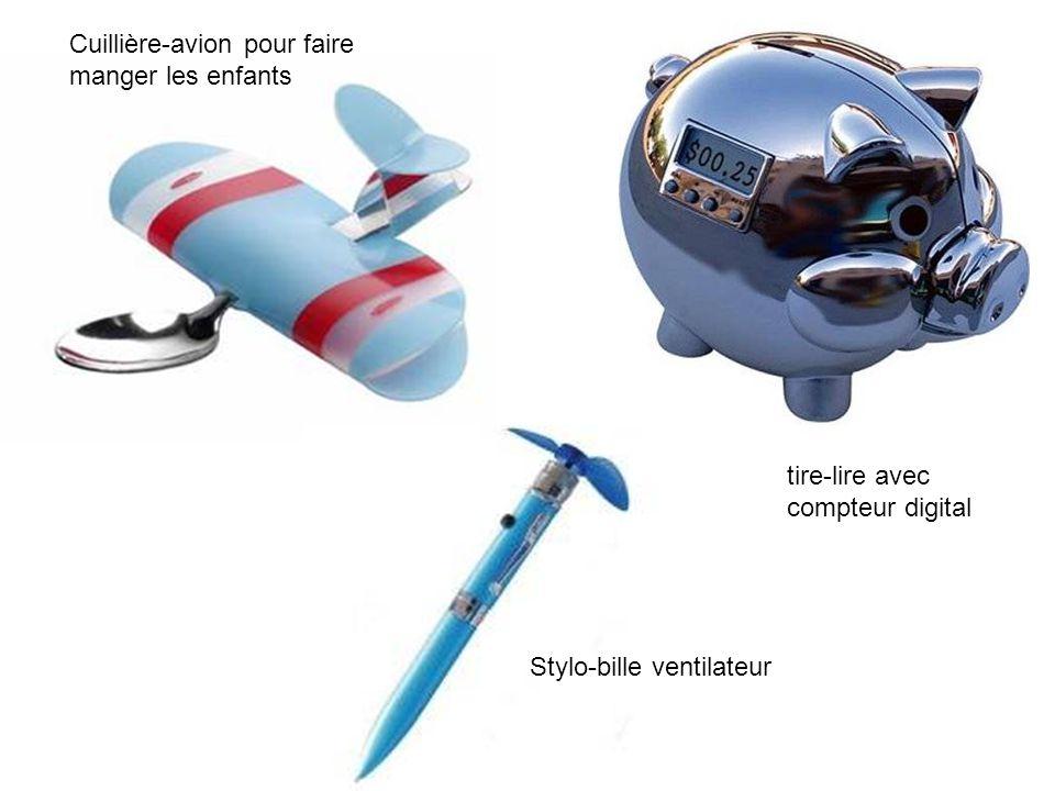 Cuillière-avion pour faire manger les enfants Stylo-bille ventilateur tire-lire avec compteur digital