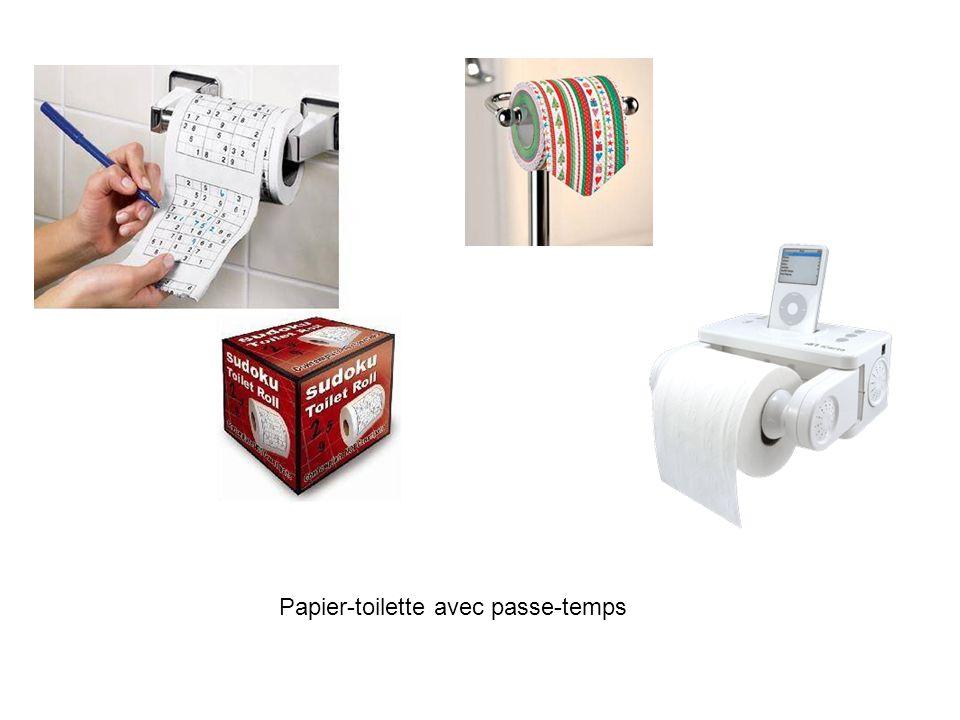 Papier-toilette avec passe-temps
