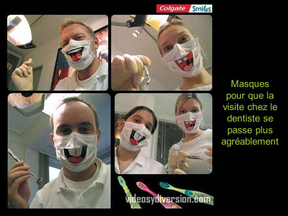 Masques pour que la visite chez le dentiste se passe plus agréablement