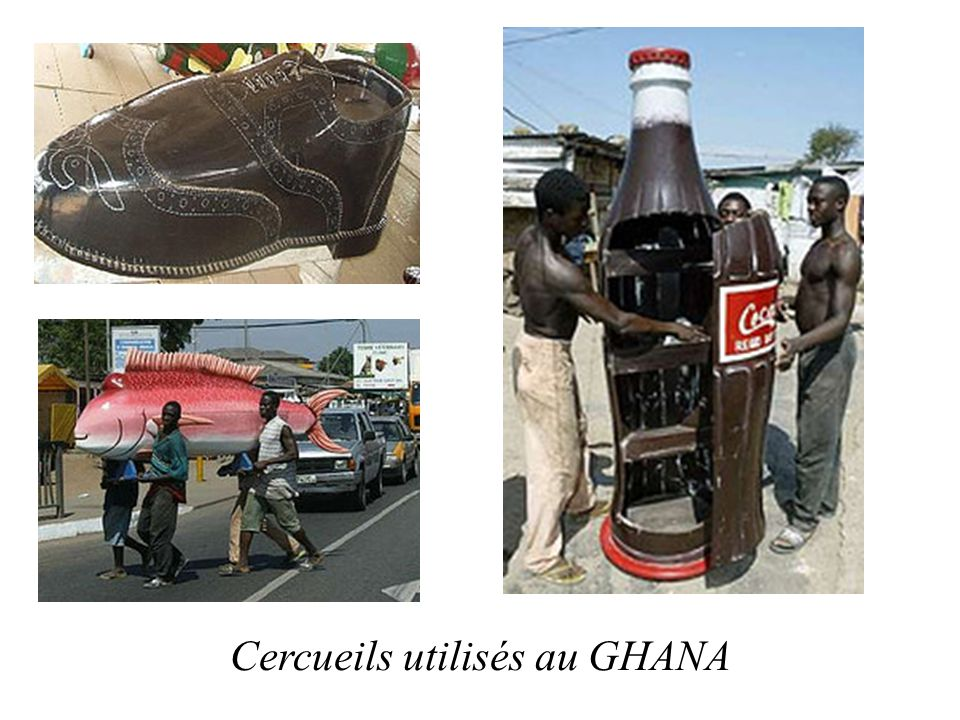 Cercueils utilisés au GHANA