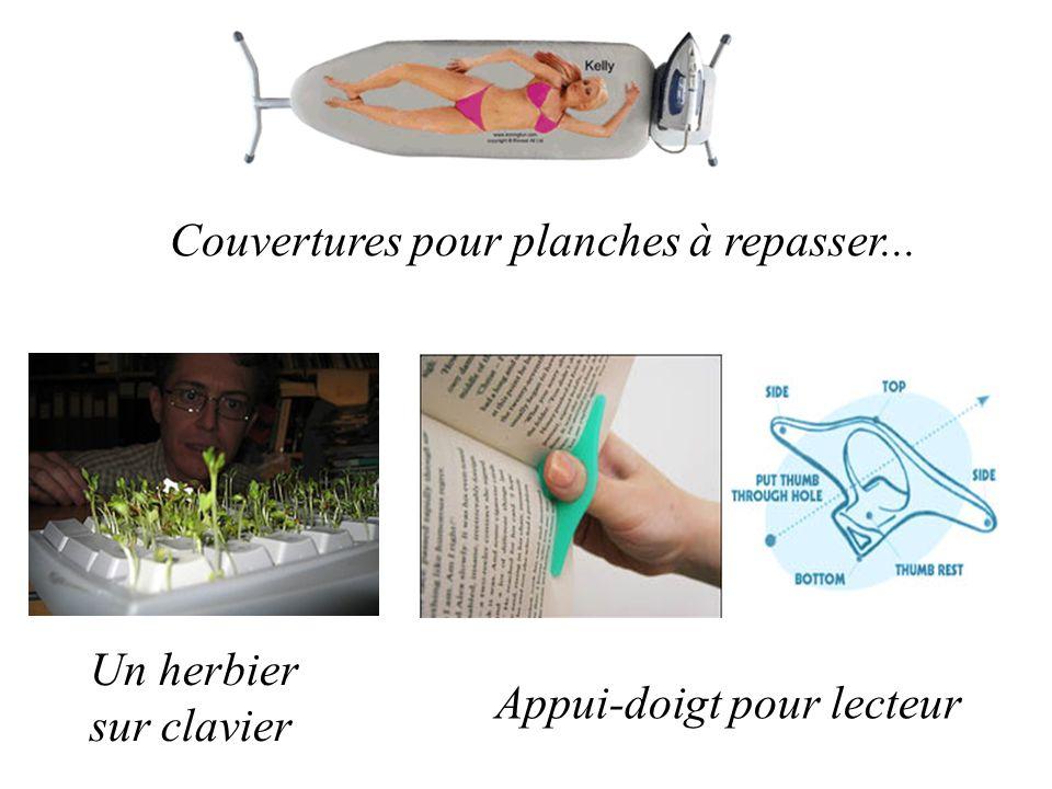 Couvertures pour planches à repasser... Un herbier sur clavier Appui-doigt pour lecteur