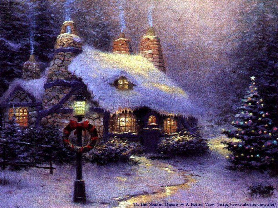 Le cœur plein d une sainte joie, le sympathique cordonnier nettoie la boutique, prépare le repas, déblaie la dernière neige, décore l humble cabane.