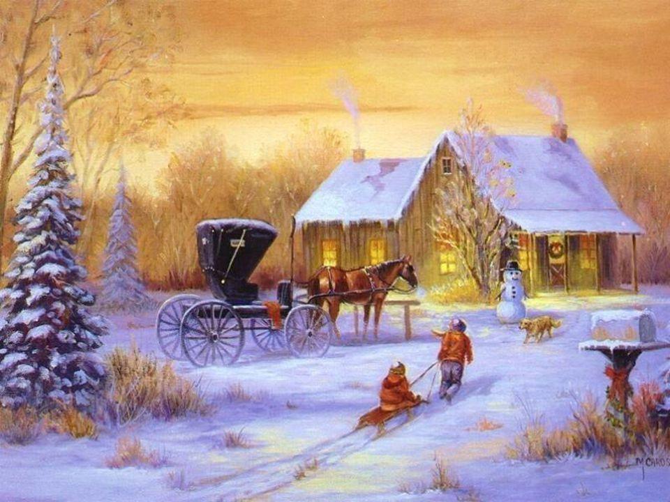 Le cœur plein d'une sainte joie, le sympathique cordonnier nettoie la boutique, prépare le repas, déblaie la dernière neige, décore l'humble cabane. T
