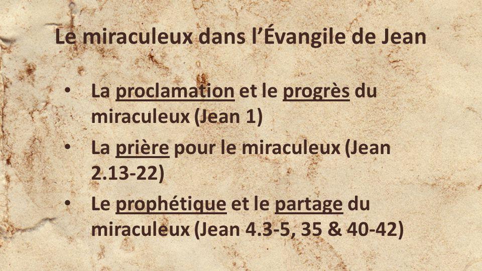 La profondeur et la promesse du miraculeux Jean 2.23-25 Pendant que Jésus était à Jérusalem à la fête de Pâques, plusieurs crurent en Son nom, voyant les miracles quIl faisait, il navait pas besoin quon Lui donne des explications daucun homme, car il savait lui-même ce qui était dans lhomme.