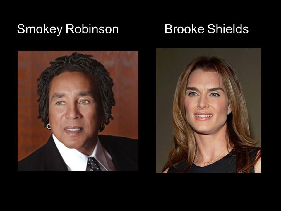 Smokey Robinson Brooke Shields