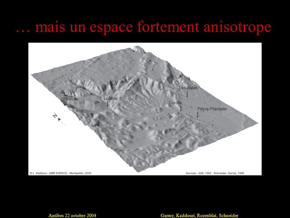 Antibes 22 octobre 2004Garmy, Kaddouri, Rozenblat, Schneider … mais un espace fortement anisotrope