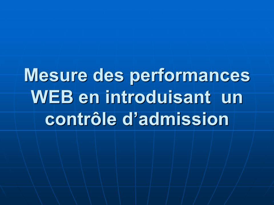 Mesure des performances WEB en introduisant un contrôle dadmission