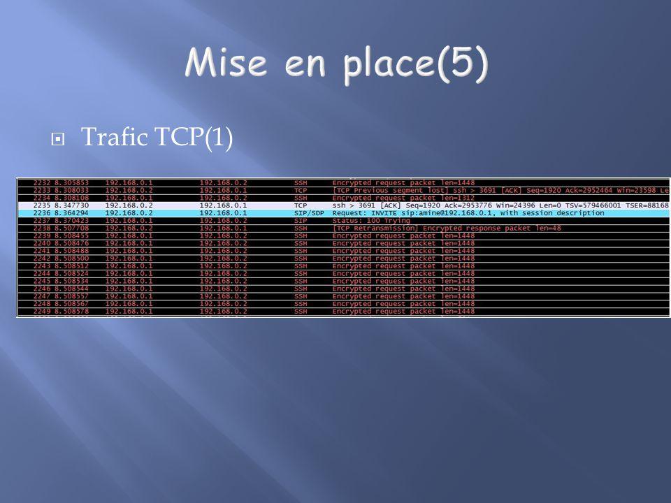 Trafic TCP(1)