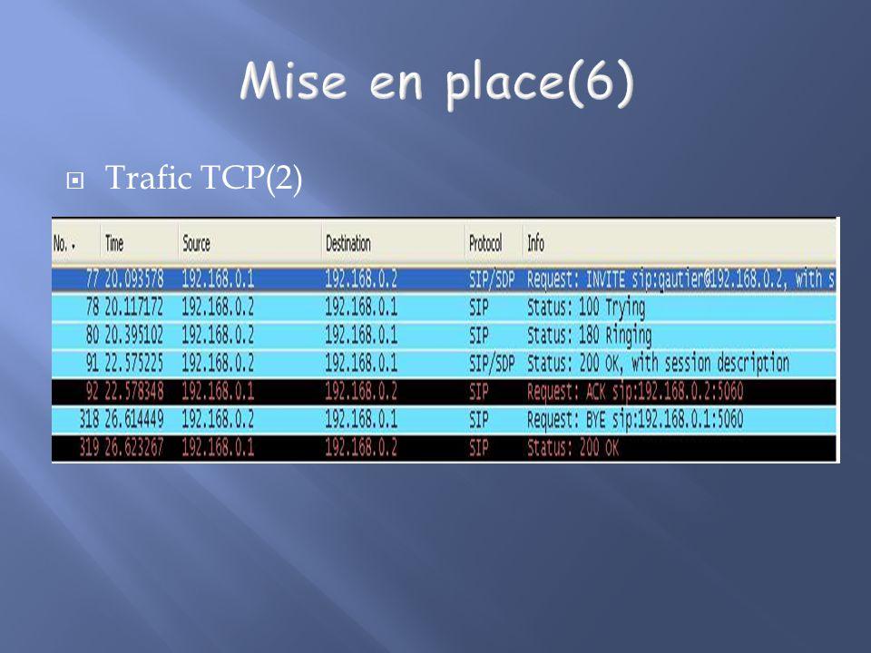 Trafic TCP(2)