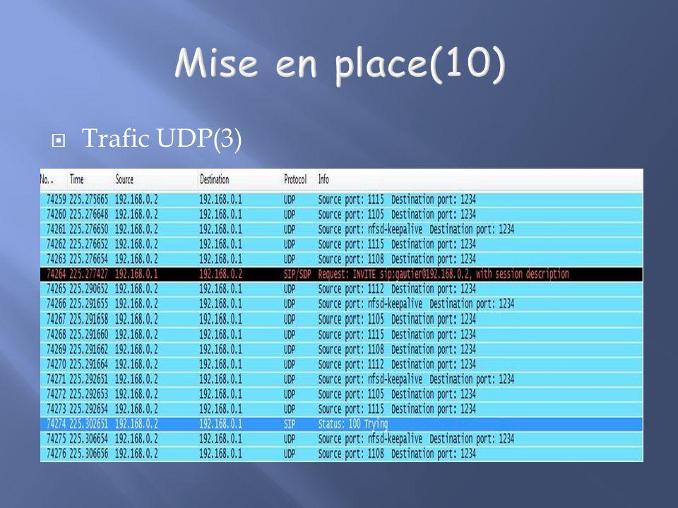Trafic UDP(3)