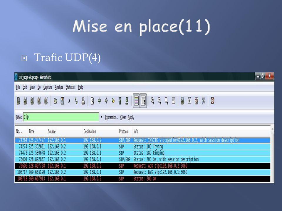 Trafic UDP(4)