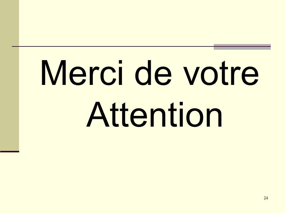 Merci de votre Attention 24