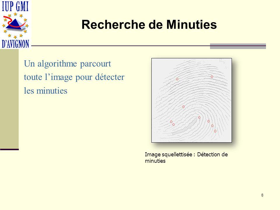 Diminution des Minuties Nombre important de minuties.