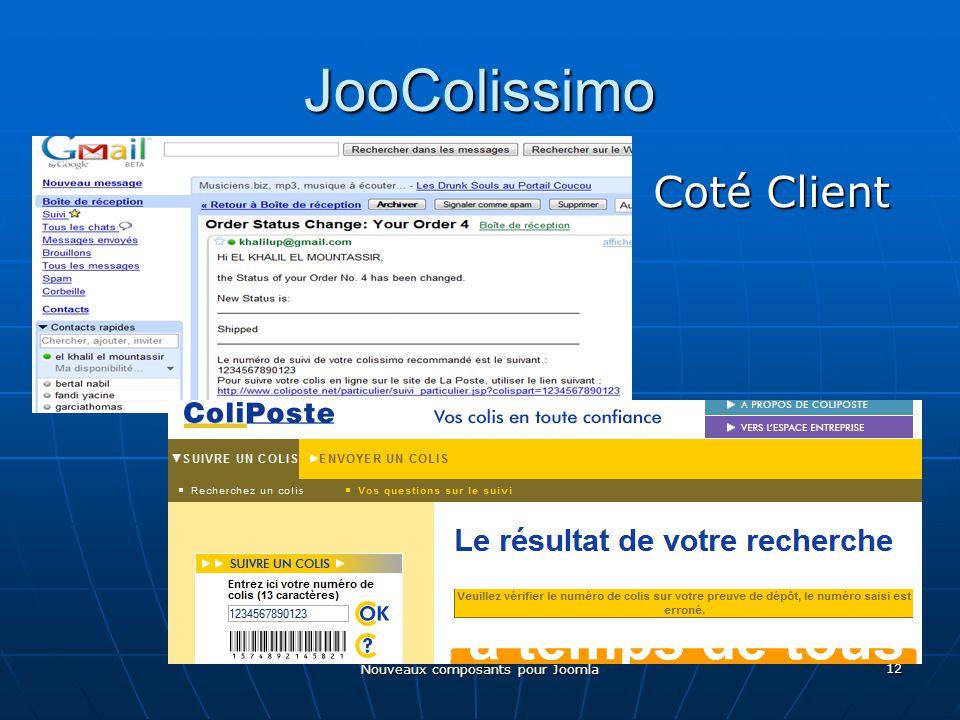 Nouveaux composants pour Joomla 12 JooColissimo Coté Client Coté Client