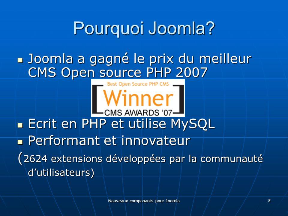 Nouveaux composants pour Joomla 5 Pourquoi Joomla.