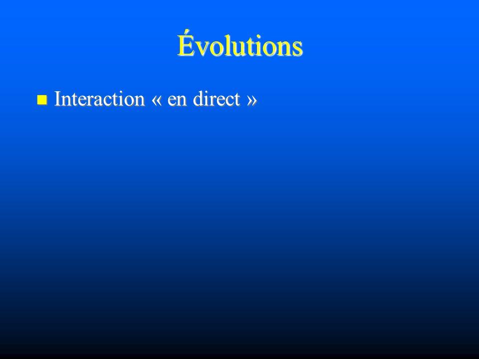 Évolutions Commentaires