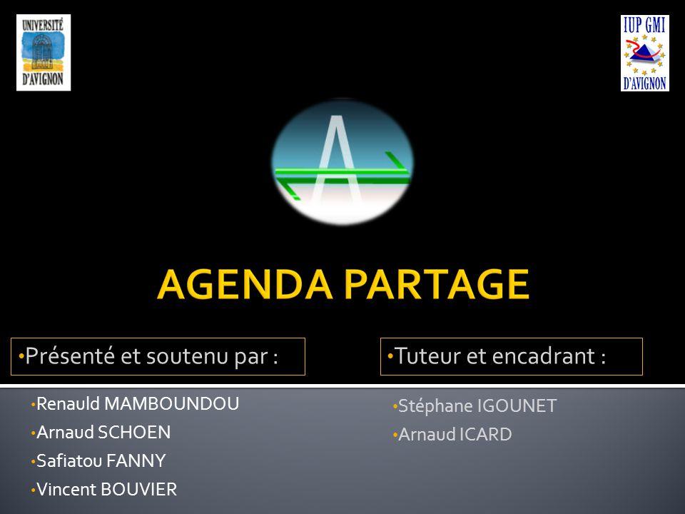 Renauld MAMBOUNDOU Arnaud SCHOEN Safiatou FANNY Vincent BOUVIER Stéphane IGOUNET Arnaud ICARD Présenté et soutenu par : Tuteur et encadrant :