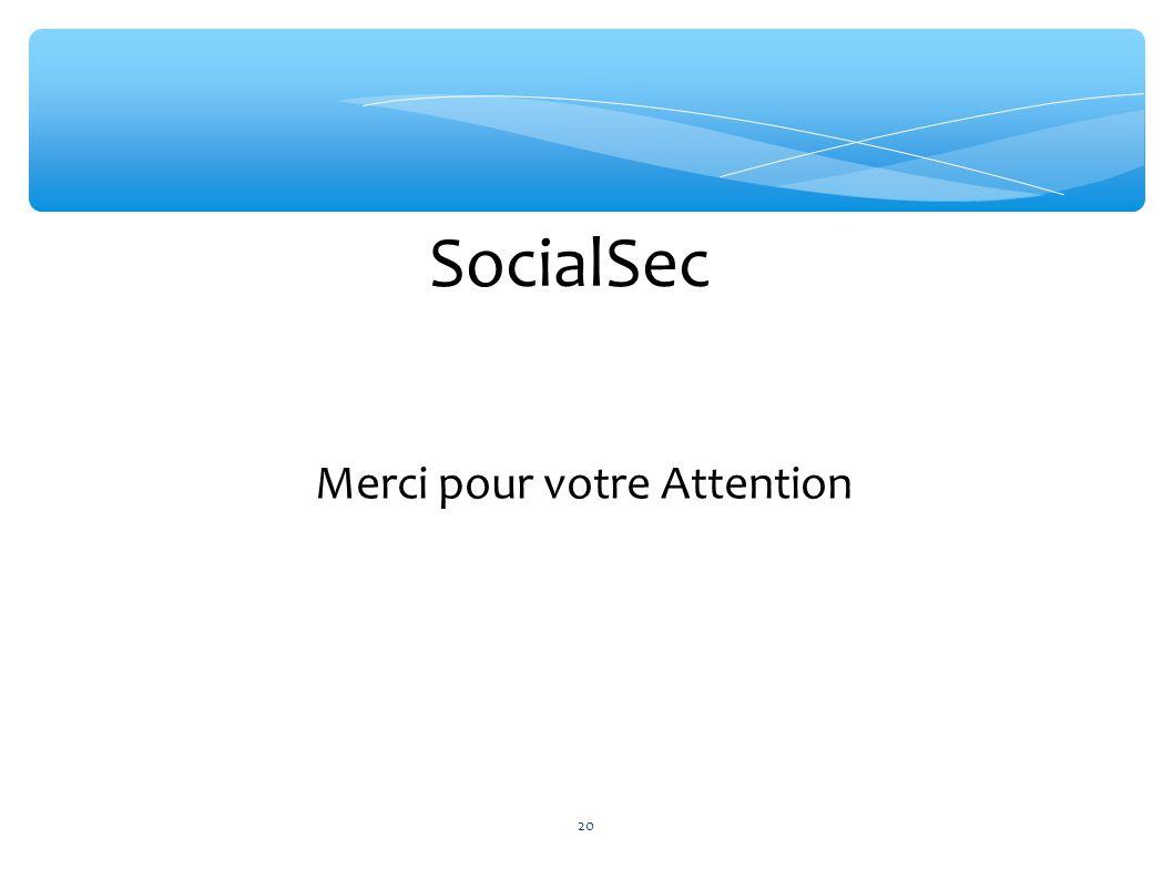 SocialSec Merci pour votre Attention 20