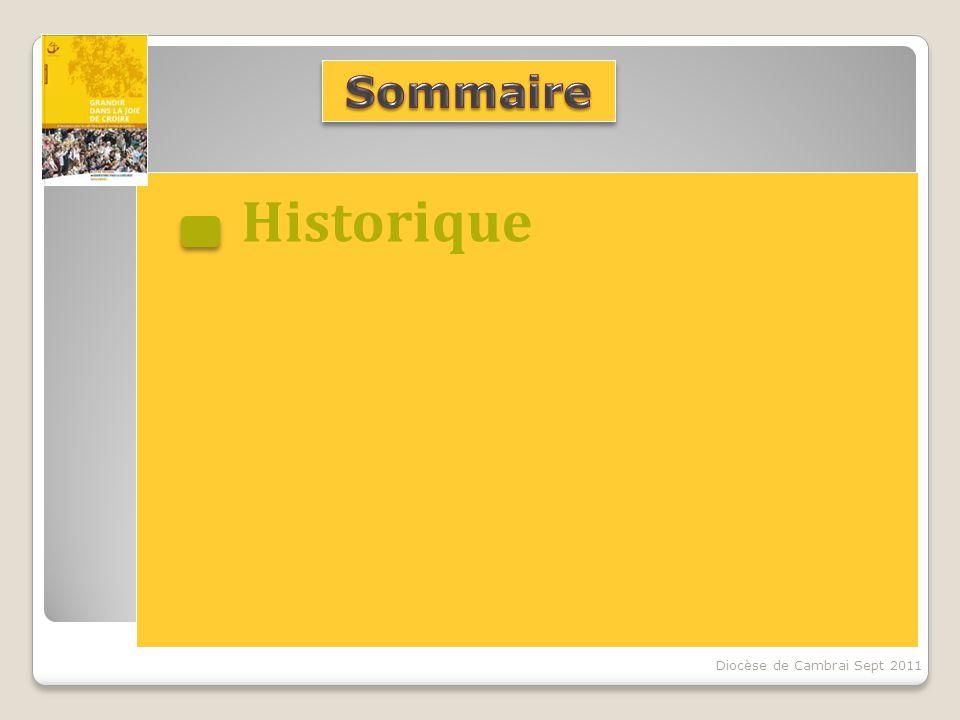 Historique Diocèse de Cambrai Sept 2011