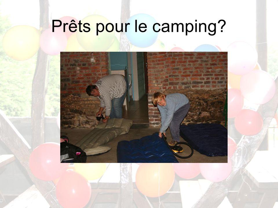Prêts pour le camping