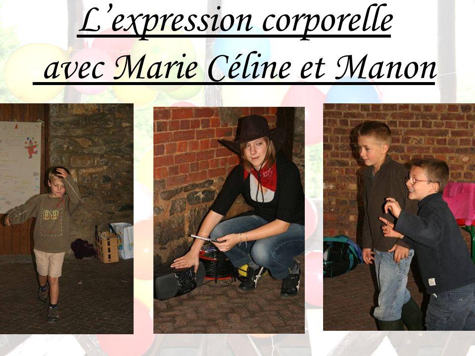 Lexpression corporelle avec Marie Céline et Manon
