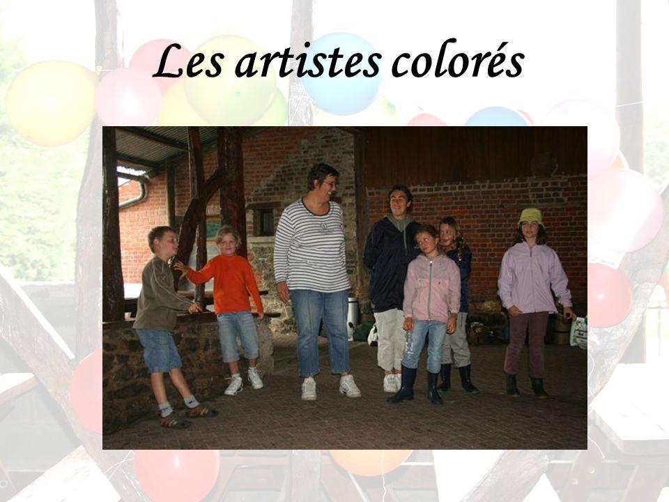 Les artistes colorés