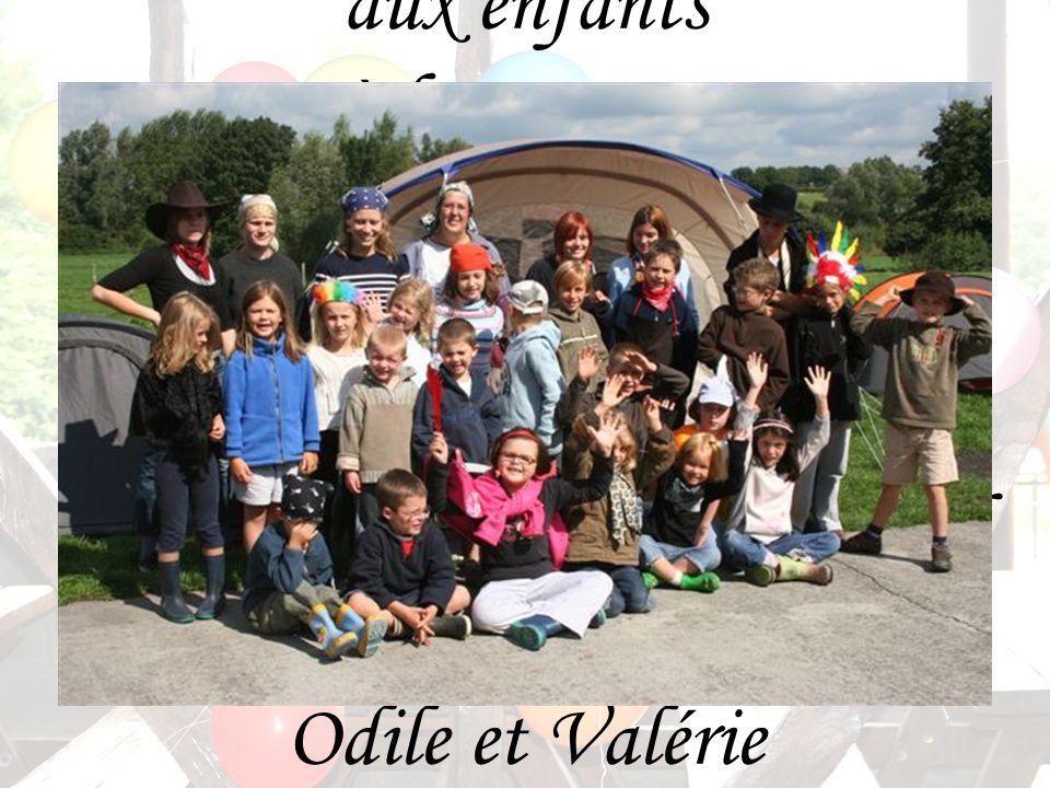 Merci aux enfants et à leurs parents Merci aux responsables Delphine, Elodie, Manon, Marie, Marie-Céline et David et aux accompagnatrices Odile et Valérie